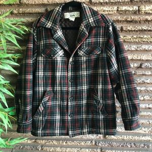 Vintage Recycled Wool Plaid Quilted GAP Jacket